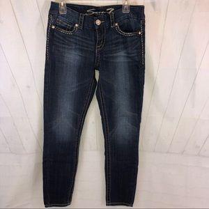 Seven7 Jeans - Seven7 Premium Straight Leg Jeans Jeweled